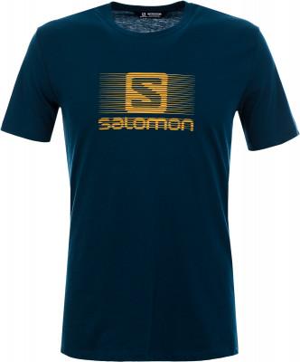 Футболка мужская Salomon Blend, размер 50-52Мужская одежда<br>Комфортная беговая футболка salomon blend logo. Комфорт легкая и приятная на ощупь ткань выполнена из сочетания хлопка и полиэстера.