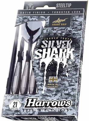 Дротики Harrows Silver SharkДротики для классического дартса. Изготовлены из латуни, с покрытием вольфрам. Вес 22 грамма и 23 грамма.<br>Вес, кг: 0,023; Состав: латунь; Вид спорта: Дартс; Производитель: Harrows; Артикул производителя: PBD618-23; Срок гарантии: 2 года; Страна производства: Соединенное королевство; Размер RU: 23;