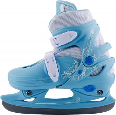 Nordway Click-Girl (2015, детские)Детские фитнес коньки click girl подойдут новичкам, которые только начинают осваивать катание на льду.<br>Вес, кг: 1,24; Раздвижной ботинок: Да; Материал ботинка: Полипропилен; Материал подкладки: Синтетическая ткань; Материал лезвия: Нержавеющая сталь; Тип фиксации: Клипса; Поддержка голеностопа: Есть; Съемный внутренний ботинок: Есть; Материал подошвы: Пластик; Заводская заточка: Да; Утепленный ботинок: Да; Сезон: 2017; Пол: Женский; Возраст: Дети; Вид спорта: Фитнес; Уровень подготовки: Начинающий; Технологии: Smart Size; Производитель: Nordway; Артикул производителя: CLKG-BL-30; Срок гарантии: 2 года; Страна производства: Китай; Размер RU: 29-32;