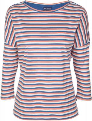 Футболка с длинным рукавом женская Columbia Harborside, размер 42Футболки<br>Женская футболка с рукавами 3 4 - незаменимая вещь в путешествиях. Натуральные материалы натуральный хлопок в составе ткани гарантирует комфорт и оптимальный микроклимат.