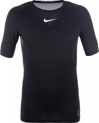 Футболка мужская Nike ProМужская футболка nike pro - оптимальный выбор для занятий тренингом. Комфорт плоские швы сводят к минимуму раздражение от натирания.<br>Пол: Мужской; Возраст: Взрослые; Вид спорта: Тренинг; Покрой: Зауженный; Плоские швы: Да; Материалы: 92 % полиэстер, 8 % эластан; Производитель: Nike; Артикул производителя: 838091-010; Страна производства: Шри-Ланка; Размер RU: 44-46;
