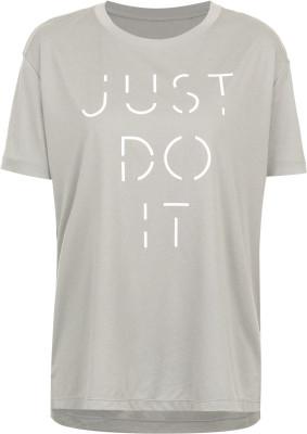 Футболка женская Nike DryЖенская тренировочная футболка nike dry - отличный выбор для фитнеса. Отведение влаги ткань nike dri-fit отводит влагу от кожи.<br>Пол: Женский; Возраст: Взрослые; Вид спорта: Фитнес; Покрой: Свободный; Материалы: 100 % полиэстер; Технологии: Nike Dri-FIT; Производитель: Nike; Артикул производителя: 908934-063; Страна производства: Вьетнам; Размер RU: 40-42;