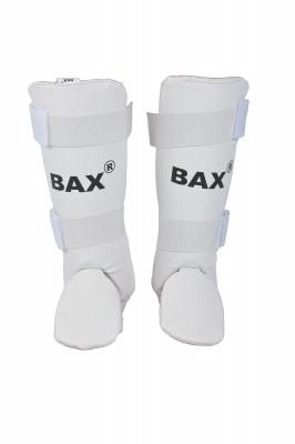 Защита голени BaxЗащита для голени и стопы из искусственной кожи обеспечит стабильное положение ног и предотвратит от травм при отработке ударов.<br>Состав: искусственная кожа, липучка, тесьма капроновая, хлопок, пенаполеуретан; Вид спорта: Карате, ММА; Производитель: Bax; Артикул производителя: SH2; Срок гарантии: 2 года; Размер RU: M;