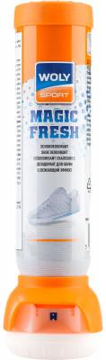 Дезодорант для обуви Woly Sport, 100 млСредства по уходу за обувью<br>Дезодорант для обуви woly sport на основе ионов серебра обладает длительным действием. Устраняет неприятные запахи и улучшает гигиеническое состояние изделия.