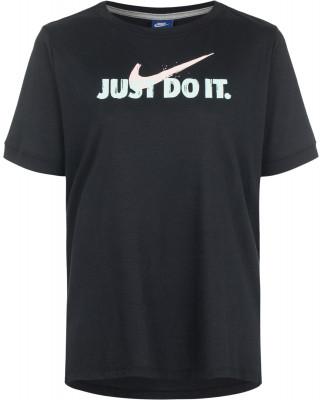 Футболка женская Nike Just Do ItФутболка от nike превосходно завершит ваш образ в спортивном стиле. Уникальный дизайн спереди расположена лаконичная графика с фирменной символикой nike.<br>Пол: Женский; Возраст: Взрослые; Вид спорта: Спортивный стиль; Покрой: Прямой; Материалы: 50 % полиэстер, 25 % хлопок, 25 % район; Производитель: Nike; Артикул производителя: 890385-010; Страна производства: Камбоджа; Размер RU: 44;