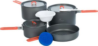 Набор посуды: 3 котелка, сковорода Fire-Maple FEAST 5Посуда<br>Набор походной посуды feast 5 на 4-5 человек, выполненный из анодированного алюминия - огнеупорного и прочного материала, который легко моется.