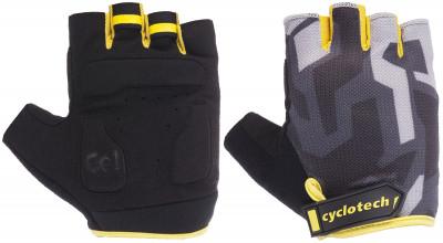 Перчатки велосипедные Cyclotech RazorВелосипедные перчатки cyclotech не дают рукам скользить на руле. Особенности модели: гасят неприятные вибрации; комфортная посадка; хорошая вентиляция.<br>Возраст: Взрослые; Пол: Мужской; Размер: 8; Материал верха: 50 % искусственная кожа, 35 % эластан, 15 % нейлон; Тип фиксации: Липучка; Производитель: Cyclotech; Артикул производителя: 15RAZ-R-L; Страна производства: Пакистан; Размер RU: 8;