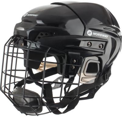 Шлем хоккейный с маской детский NordwayКлассический детский хоккейный шлем от nordway для полевого игрока.<br>Пол: Мужской; Возраст: Дети; Вид спорта: Хоккей; Уровень подготовки: Начинающий; Материал подкладки: Вспененный этиленвинилацетат; Конструкция: Hard shell; Регулировка размера: Да; Тип регулировки размера: С помощью отвёртки; Материал внешней раковины: Ударопрочный пластик; Материал корпуса: Ударопрочный пластик; Материал внутренней раковины: Пластик, полиэтилен, полипропилен; Материалы: пластик, пена, металл; Сертификация: Не подлежит; Вентиляция: Принудительная; Вес, кг: 0,840; Производитель: Nordway; Артикул производителя: HJB-14-S; Срок гарантии: 1 год; Страна производства: Китай; Размер RU: S;