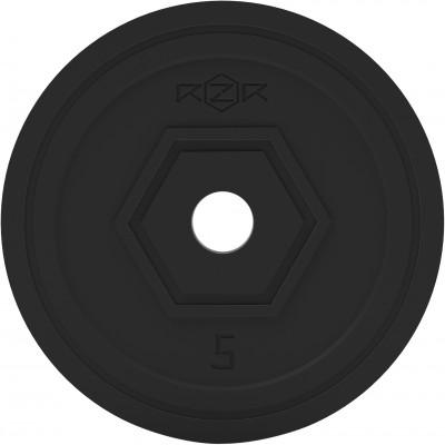 Блин стальной обрезиненный, 5 кг RZR-R50