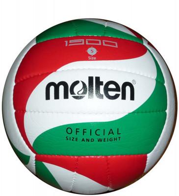 Мяч волейбольный MoltenМодель тренировочного мяча из мягкой синтетической кожи. Ручное шитье. Оригинальный дизайн панелей.<br>Сезон: 2015; Возраст: Взрослые; Вид спорта: Волейбол; Тип поверхности: Универсальные; Назначение: Тренировочные; Материал покрышки: Синтетическая кожа; Материал камеры: Бутил; Способ соединения панелей: Ручная сшивка; Количество панелей: 16; Вес, кг: 0,28; Технологии: Flistatec; Производитель: Molten; Артикул производителя: V5M1900; Срок гарантии: 2 года; Страна производства: Пакистан; Размер RU: 5;