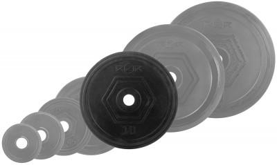 Блин стальной обрезиненный RZR 10 кгОбрезиненные блины для комплектации различных тренировочных грифов: прямых, изогнутых ez образных, w- образных, гантельных. Посадочный диаметр составляет 31 мм.<br>Посадочный диаметр: 31 мм; Внешний диаметр: 288; Толщина: 40; Материал диска: Сталь; Покрытие: Резина; Вес, кг: 10; Вид спорта: Силовые тренировки; Производитель: RZR; Артикул производителя: RZR-R100; Страна производства: Китай; Размер RU: Без размера; Цвет: Черный;
