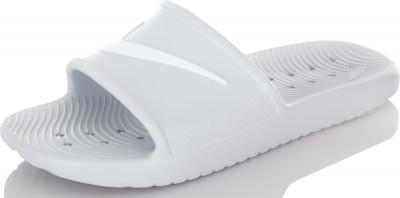 Шлепанцы женские Nike Kawa ShowerЖенские шлепанцы nike kawa shower с мягким синтетическим ремешком для комфорта и амортизации.<br>Пол: Женский; Возраст: Взрослые; Вид спорта: Плавание, Пляжный отдых; Материал верха: 100 % пластик; Материал подошвы: 100 % пластик; Производитель: Nike; Артикул производителя: 832655-010; Страна производства: Вьетнам; Размер RU: 38;