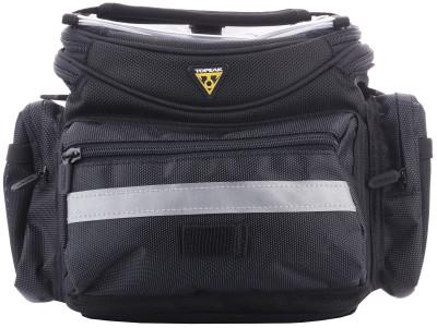 Велосипедная сумка TOPEAKУниверсальная сумка объемом 5 литров, которую можно прикрепить к рулю или надеть через плечо. Возможно крепление к рулям диаметром 25, 4, 28, 6 и 31, 8 мм. Вес: 670 гр.<br>Материал верха: Нейлон; Объем: 5 л; Чехол от дождя: Да; Органайзер: Да; Размеры (дл х шир х выс), см: 25,5 x 23 x 18; Материалы: Нейлон; Вид спорта: Велоспорт; Производитель: TOPEAK; Артикул производителя: TT3021B; Страна производства: Тайвань; Размер RU: Без размера;
