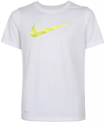 Футболка для мальчиков Nike Dry TrainingФутболка для мальчиков nike dry training - это отличный вариант для тренировок.<br>Пол: Мужской; Возраст: Дети; Вид спорта: Тренинг; Покрой: Прямой; Материалы: 100 % полиэстер; Технологии: Nike Dri-FIT; Производитель: Nike; Артикул производителя: 862670-100; Страна производства: Китай; Размер RU: 152-158;