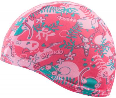 Шапочка для плавания детская Speedo Sea SquadДетская полиэстеровая шапочка от speedo с ярким дизайном предназначена для занятий в бассейне. Конструкция модели обеспечивает максимально комфортную посадку.<br>Пол: Мужской; Возраст: Дети; Вид спорта: Плавание; Назначение: Универсальные; Производитель: Speedo; Артикул производителя: 8-079977693; Страна производства: Китай; Материалы: 100 % полиэстер; Размер RU: Без размера;