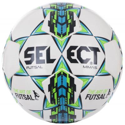 Мяч футбольный Select Futsal MimasМяч для мини-футбола. Покрышка изготовлена из синтетической кожи (полиуретан). Ручная сшивка, плотная бутиловая камера для правильного отскока. Сертификат ims approved.<br>Сезон: 2017/2018; Возраст: Взрослые; Вид спорта: Футбол; Тип поверхности: Для зала; Назначение: Профессиональные; Материал покрышки: Синтетическая кожа; Материал камеры: Бутил; Способ соединения панелей: Ручная сшивка; Количество панелей: 32; Технологии: Zero-Wing bladder; Производитель: Select; Артикул производителя: 852608; Срок гарантии: 6 месяцев; Страна производства: Пакистан; Размер RU: Без размера;
