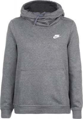 Джемпер женский Nike Sportswear Funnel-Neck HoodieДжемпер в спортивном стиле от nike, выполненный из мягкого и теплого флиса.<br>Пол: Женский; Возраст: Взрослые; Вид спорта: Спортивный стиль; Капюшон: Не отстегивается; Застежка: Отсутствует; Материал верха: 52 % хлопок, 28 % район, 20 % полиэстер; Производитель: Nike; Артикул производителя: 853928-071; Страна производства: Пакистан; Размер RU: 50-52;