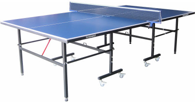 Теннисный стол всепогодный TorneoВсепогодный складной стол для настольного тенниса. Игровая поверхность покрыта двумя слоями всепогодной краски. Размер в игровом положении: 274 х 152, 5 х 76 см. Вес: 56 кг.<br>Размер в рабочем состоянии (дл. х шир. х выс), см: 274 х 152,5 х 76; Размер в сложенном виде (дл. х шир. х выс), см: 152,5 х 174 х 74; Вес, кг: 56; Складная конструкция: Есть; Блокиратор в механизме складывания: Есть; Регулировка высоты стола: Есть; Труба: Квадратная; Диаметр трубы: 25 x 25 мм; Материал каркаса: Сталь; Толщина игровой плиты, мм: 4; Позиция Playback: Есть; Антибликовое покрытие: Есть; Игровая поверхность: Алюминий, пластик; Транспортировочные ролики: Есть; Блокиратор колес: Есть; Диаметр колес: 5 см; Материал колес: Сталь, резина; Вид спорта: Настольный теннис; Производитель: Torneo; Артикул производителя: TTI22-02M; Срок гарантии: 2 года; Страна производства: Китай; Размер RU: Без размера;