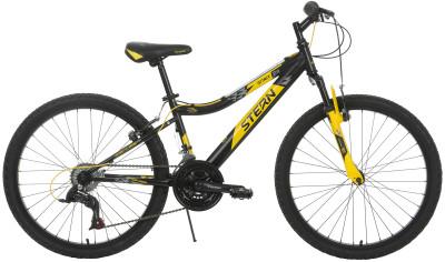 Stern Attack 24 (2017)Горный велосипед attack 24 разработан специально для мальчиков 8-12 лет. Управляемость 18 скоростей позволяют выбирать оптимальную нагрузку.<br>Материал рамы: Сталь; Амортизация: Hard tail; Конструкция рулевой колонки: Неинтегрированная; Количество скоростей: 18; Наименование переднего переключателя: Sunrace Fdm2S; Наименование заднего переключателя: Sunrace Rdm36; Конструкция педалей: Классические; Наименование манеток: Sunrace Tsm-38; Конструкция манеток: Вращающиеся ручки; Диаметр колеса: 24; Тип обода: Одинарный; Материал обода: Алюминиевый сплав; Наименование покрышек: WANDA P1033, 24 x 1,95; Возможность крепления боковых колес: Нет; Конструкция вилки: Пружинно-эластомерная; Ход вилки: 40 мм; Конструкция руля: Изогнутый; Регулировка руля: Да; Сезон: 2017; Максимальный вес пользователя: 70 кг; Вид спорта: Велоспорт; Технологии: Hi-ten steel; Производитель: Stern; Артикул производителя: 17ATT24; Срок гарантии: 2 года; Вес, кг: 14,5; Страна производства: Россия; Тип переднего тормоза: Ободной; Тип заднего тормоза: Ободной; Регулировка седла: Да; Амортизационный подседельный штырь: Нет; Размер RU: Без размера;