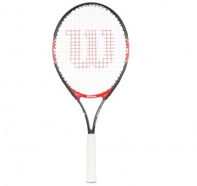 Ракетка для большого тенниса детская Wilson Roger Federer 25Ракетка для начинающих wilson roger federer 25 рассчитана на юных теннисистов. Маневренность легкость делает ракетку более маневренной.<br>Материал ракетки: Алюминий; Вес (без струны), грамм: 225; Размер головы: 613 кв.см; Толщина обода: 20 мм; Длина: 25; Струнная формула: 16х17; Стиль игры: Защитный стиль; Производитель: Wilson; Артикул производителя: WRT200800; Срок гарантии: 2 года; Страна производства: Китай; Вид спорта: Теннис; Уровень подготовки: Начинающий; Наличие струны: В комплекте; Наличие чехла: Опционально; Размер RU: Без размера;