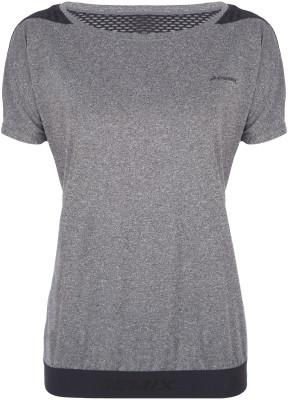 Футболка женская Demix, размер 46Футболки<br>Удобная футболка для занятий фитнесом от demix. Дополнительная вентиляция вставка из сетчатого материала улучшает циркуляцию воздуха.