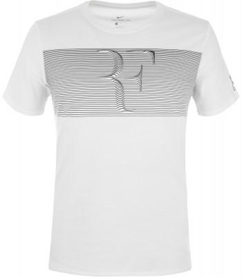 Футболка мужская Nike RFМужская теннисная футболка от nike, созданная специально для поклонников знаменитого теннисиста роджера федерера. Комфорт мягкая ткань приятна к телу.<br>Пол: Мужской; Возраст: Взрослые; Вид спорта: Теннис; Покрой: Прямой; Материалы: 100 % хлопок; Производитель: Nike; Артикул производителя: 889785-100; Страна производства: Турция; Размер RU: 50-52;