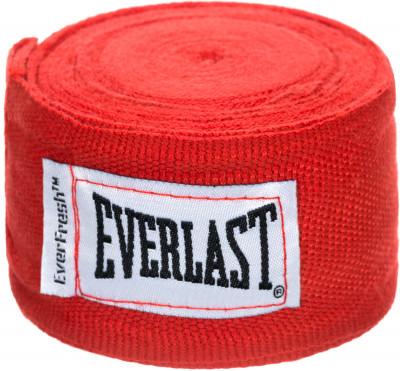 Бинты Everlast 3,5 м, 2 шт.Бинты everlast предназначены для защиты суставов во время работы в боксерских перчатках. Использование бинтов помогает избежать растяжений и вывихов.<br>Материалы: 55 % нейлон, 45 % полиэстер; Тип фиксации: Липучка; Вид спорта: Бокс; Производитель: Everlast; Артикул производителя: 4464; Срок гарантии: 15 дней; Размер RU: Без размера;