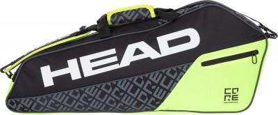Сумка для 3 ракеток Head CORE 3R ProРюкзаки и сумки<br>Теннисная сумка от head, в которую помещается до 3 ракеток. Регулируемые ремни позволяют использовать сумку с максимальным удобством.