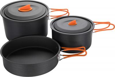 Набор посуды: 2 кастрюли, сковорода Outventure