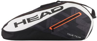 Сумка для 6 ракеток Head Tour TeamСумка с двумя большими отделениями, в которые помещаются шесть теннисных ракеток, одежда и обувь.<br>Размеры (дл х шир х выс), см: 79 х 34 х 26; Вид спорта: Теннис; Артикул производителя: 283457; Производитель: Head; Страна производства: Китай; Срок гарантии: 1 год; Размер RU: Без размера;