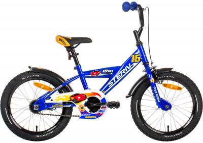 Велосипед детский для мальчиков Stern Rocket 16Специально для мальчиков младшего возраста (4-6 лет) разработан велосипед с размером колеса 16 дюймов. Модель учитывает все особенности детской анатомии.<br>Материал рамы: Сталь; Амортизация: Rigid; Конструкция рулевой колонки: Неинтегрированная; Конструкция вилки: Жесткая; Количество скоростей: 1; Конструкция педалей: Классические; Тип переднего тормоза: Ободной; Тип заднего тормоза: Ножной; Диаметр колеса: 16; Тип обода: Одинарный; Материал обода: Сталь; Наименование покрышек: WANDA P104/WANDA P1023, 16x2,125; Возможность крепления боковых колес: Есть; Наличие боковых колес: В комплекте; Конструкция руля: Изогнутый; Регулировка седла: Есть; Сезон: 2017; Максимальный вес пользователя: 40 кг; Вид спорта: Велоспорт; Технологии: Hi-ten steel; Производитель: Stern; Артикул производителя: 16ROCK16; Срок гарантии: 2 года; Вес, кг: 11,3; Страна производства: Китай; Размер RU: Без размера;