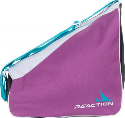 Сумка для роликов детская REACTIONУдобная сумка позволит компактно разместить роликовые коньки любого размера и защиту к ним. Подойдет не только для переноски, но и хранения.<br>Размеры (дл х шир х выс), см: 36 x 26 x 33; Объем: 25 л; Количество отделений: 1; Материал верха: 100 % полиэстер; Вид спорта: Роликовые коньки; Производитель: REACTION; Артикул производителя: RBGK15KA; Срок гарантии: 2 года; Страна производства: Китай; Размер RU: Без размера;