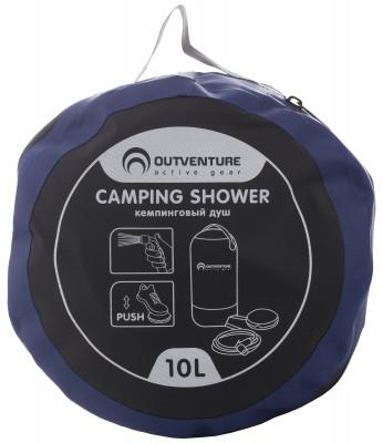 Душ OutventureКемпинговый душ с помпой для подачи воды. Незаменим во время отдыха на природе и походах.<br>Объем: 10; Состав: 500Д ПВХ брезент, АБС и ПУ; Вид спорта: Кемпинг, Походы; Производитель: Outventure; Артикул производителя: A032Z2; Срок гарантии: 1 год; Страна производства: Китай; Размер RU: Без размера;