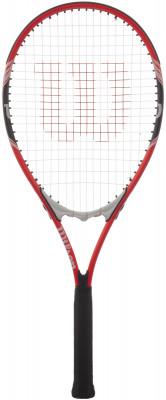 Ракетка для большого тенниса Wilson FedererРакетка из именной серии роджера федерера подойдет теннисистам начального и среднего уровня. Модель выполнена в тех же цветах, что и ракетка федерера.<br>Вес (без струны), грамм: 309; Размер головы: 710 кв.см; Длина: 27; Баланс: 335 мм; Материалы: Алюминий; Наличие струны: В комплекте; Наличие чехла: Опционально; Вид спорта: Теннис; Производитель: Wilson; Артикул производителя: WRT30400U; Срок гарантии: 1 год; Страна производства: Китай; Размер RU: 3;