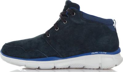 Ботинки утепленные мужские Skechers, размер 44Ботинки и сапоги <br>Мужские ботинки skechers пригодятся в путешествиях. Амортизация подошва dual-lite, выполненная из материала эва различной плотности, обеспечивает отличную амортизацию.