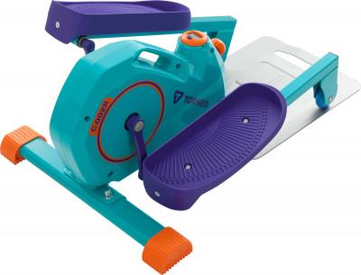 Эллиптический тренажер Torneo Mini CrossКомпактный эллиптический тренажер - отличный выбор для домашних кардиотренировок.<br>Система нагружения: Магнитная; Масса маховика: 5 кг; Регулировка нагрузки: Механическая; Нагрузка: Плавная регулировка; Длина шага: 260 мм; Питание тренажера: Батарейки; Максимальный вес пользователя: 100 кг; Время тренировки: Есть; Скорость: Есть; Пройденная дистанция: Есть; Израсходованные калории: Есть; Дополнительные функции: Режим поочередного отображения параметров; Дополнительно: Противоскользящий рельеф педалей. Педали можно вращать вперед и назад. Ручки спереди и сверху тренажера для удобства перемещения.; Размеры (дл х шир х выс), см: 84,5 x 46 x 34; Вес, кг: 14; Вид спорта: Кардиотренировки; Технологии: EnergyEfficient, EverProof, ExaMotion; Производитель: Torneo; Артикул производителя: C-002R; Срок гарантии: 2 года; Страна производства: Китай; Размер RU: Без размера;