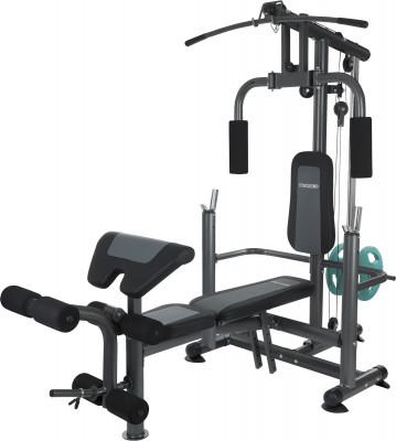 Силовой центр Torneo Power ProСиловой тренажер со свободными весами. Складная конструкция.<br>Тренируемые группы мышц: Cпина, руки, грудь, плечи, ноги; Максимальная нагрузка на стойки для штанги, кг: 120; Максимальная нагрузка на весовой стек, кг: 60; Максимальный вес пользователя: 140 кг; Регулировки: Регулируемый угол наклона спинки, высота стойки для штанги, положение парты для бицепса; Особенности: Специальная установка для тренировки ног, плита для тренировки бицепса расстояние между стойками – 99 см; Размер в рабочем состоянии (дл. х шир. х выс), см: 230 х 114 х 194; Размер в сложенном виде (дл. х шир. х выс), см: 150 х 114 х 194; Вес, кг: 71,5; Вид спорта: Силовые тренировки; Технологии: ErgoPad, EverProof; Производитель: Torneo; Артикул производителя: G-425-K; Срок гарантии: 2 года; Страна производства: Китай; Размер RU: Без размера;