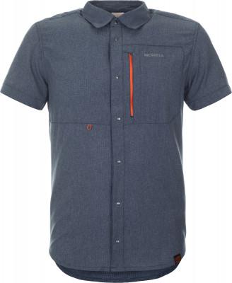 Рубашка мужская Merrell, размер 48Рубашки<br>Рубашка с коротким рукавом от merrell пригодится в походе. Дополнительная вентиляция сетчатая вставка на спине, закрытая кокеткой, обеспечивает воздухообмен.