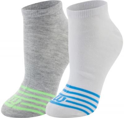 Носки Wilson, 2 парыПрактичные носки для занятий спортом wilson. Благодаря эластичной ткани, носки облегают ногу, что гарантирует удобную плотную посадку.<br>Пол: Мужской; Возраст: Взрослые; Вид спорта: Спортивный стиль; Дополнительная вентиляция: Да; Производитель: Wilson; Артикул производителя: W587-H; Страна производства: Китай; Материалы: 98 % полиэстер, 2 % эластан; Размер RU: 35-38;