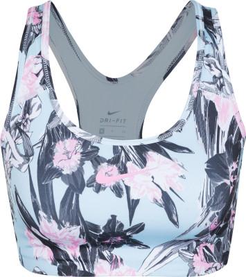 Бра Nike Swoosh Hyper Femme, размер 42-44Бра<br>Бра с цветочным принтом nike swoosh hyper femme гарантирует комфорт во время кардиотренировок.