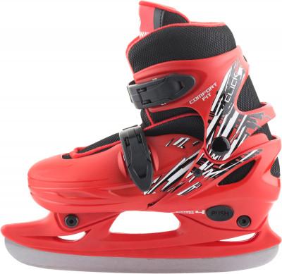 Nordway Click-Boy (2015, детские)Детские фитнес коньки click boy подойдут новичкам, которые только начинают осваивать катание на льду.<br>Вес, кг: 1,24; Раздвижной ботинок: Да; Материал ботинка: Полипропилен; Материал подкладки: Синтетическая ткань; Материал лезвия: Нержавеющая сталь; Тип фиксации: Клипса; Поддержка голеностопа: Есть; Съемный внутренний ботинок: Есть; Материал подошвы: Пластик; Заводская заточка: Да; Утепленный ботинок: Да; Сезон: 2017; Пол: Мужской; Возраст: Дети; Вид спорта: Фитнес; Уровень подготовки: Начинающий; Технологии: Smart Size; Производитель: Nordway; Артикул производителя: CLKB-RB-27; Срок гарантии: 2 года; Страна производства: Китай; Размер RU: 26-29;