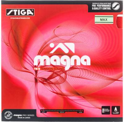 Накладка Stiga Magna TS IIОчень мягкая накладка - отличный выбор для атакующих игроков любого уровня подготовки. Дарит приятный звук при ударе по мячу. Толщина губки 2, 2 мм.<br>Скорость: 130; Контроль: 95; Вращение: 126; Состав: Каучук; Тип накладки: Гладкая; Вид спорта: Настольный теннис; Производитель: Stiga; Артикул производителя: 982322; Страна производства: Япония; Размер RU: Без размера;