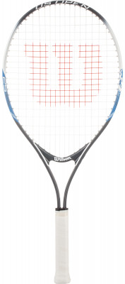 Ракетка для большого тенниса детская Wilson US Open 25Детская теннисная ракетка wilson us open. Яркий дизайн гарантирует хорошее настроение ребенка и желание играть каждый день. Рекомендуется детям в возрасте 9-10 лет.<br>Материал ракетки: Алюминий; Вес (без струны), грамм: 220; Размер головы: 684 кв.см; Толщина обода: 21 мм; Длина: 25; Струнная формула: 16х19; Стиль игры: Защитный стиль; Производитель: Wilson; Артикул производителя: WRT21030U; Срок гарантии: 2 года; Страна производства: Китай; Вид спорта: Теннис; Уровень подготовки: Начинающий; Наличие струны: В комплекте; Наличие чехла: Опционально; Размер RU: Без размера;
