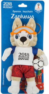 Брелок Волк Забивака 2018 FIFA World Cup Russia™, 16 смБрелок в виде плюшевой игрушки, которую можно прикрепить на ключи или рюкзак.<br>Пол: Мужской; Возраст: Взрослые; Состав: 100 % полиэстер; Размеры (дл х шир х выс), см: 17,5 х 11 х 5,5; Вес, кг: 0,067; Производитель: 2018 FIFA World Cup Russia; Артикул производителя: T1100100; Страна производства: Китай; Размер RU: Без размера;