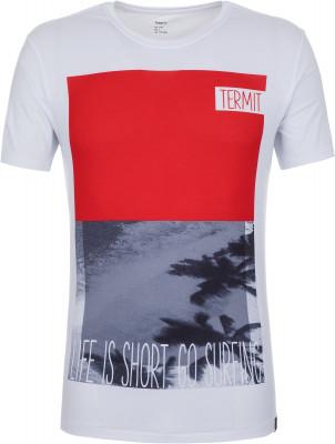 Футболка мужская Termit, размер 48Surf Style <br>Удачный вариант для пляжных видов спорта - технологичная футболка от termit. Свобода движений прямой крой позволяет двигаться свободно и естественно.