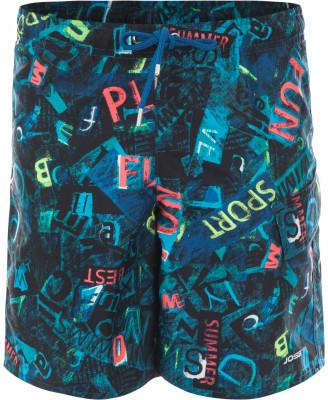 Шорты плавательные для мальчиков JossДетские плавательные шорты с ярким рисунком - удачный вариант для пляжного отдыха. Свобода движений прямой крой позволяет двигаться свободно и естественно.<br>Пол: Мужской; Возраст: Дети; Вид спорта: Пляж; Защита от УФ: Нет; Устойчивость к хлору: Нет; Длина по боковому шву: 39 см; Покрой: Прямой; Материал верха: 100 % полиэстер; Материал подкладки: 100 % полиэстер; Производитель: Joss; Артикул производителя: SW03S6MX16; Страна производства: Вьетнам; Размер RU: 164;