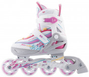 Роликовые коньки раздвижные для девочек REACTION Rainbow