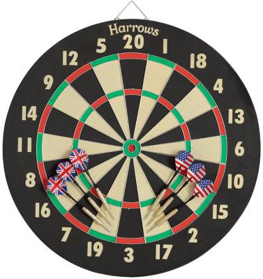 Дартс Harrows Dart GameВысококачественная мишень из сизаля (спрессованные волокна агавы). Предназначена для достижения максимальных результатов.<br>Состав: Бумага, латунь; Вид спорта: Дартс; Производитель: Harrows; Артикул производителя: PJE08; Срок гарантии: 2 года; Страна производства: Соединенное королевство; Размер RU: Без размера;