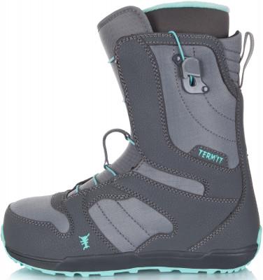 Ботинки сноубордические женские Termit Escape, размер 38Ботинки<br>Сноубордические ботинки termit escape - это модель для девушек, уверенно чувствующих себя на склоне. Быстрая фиксация предусмотрена система быстрой шнуровки.