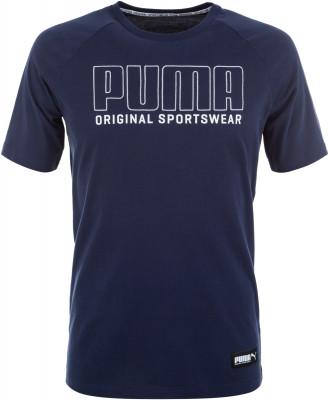 Футболка мужская Puma Athletics, размер 52-54Футболки<br>Футболка из винтажной коллекции puma, выполненная в спортивном стиле.